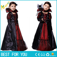 baby witch costumes - Hot Girl Witch lace Dress Necklace Princess Party Dresses Tutu Baby Kids Children Clothing carnival halloween Cosplay Costume