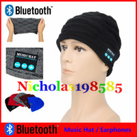 Wholesale Bluetooth Music Hat Soft Warm Beanie CapHeadband Sweatband Wireless Within Headphone Headset Speaker Microphone Hands free For Smart Phone