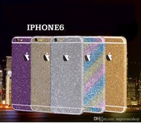 Wholesale Glitter Powder Full Body Sticker For iPhone S S Plus iPhone6 Samsung S7 Edge NOTE J5 A7100 Front Back Sides Bling Skin Protector