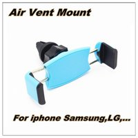 air cans - New Car Mount Degrees Rotate Air vent mount holder Put out double outlet can phone Holder For mobile phones support GPS navigation