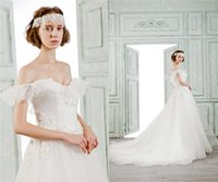beautiful summer tops - 2016 Spring Summer Beautiful Ball Gown Wedding Dresses Sweetheart Capped Sweep Train Embroidery Top Quality Wedding Dress in Garden