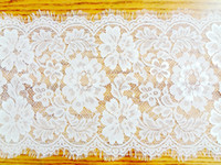 table runner - 27 cm Jacquard Wedding Lace Table Runners Chair Sashes Table cloths Home Garden Kitchen Bar Party Event Decoration Table Skirt New