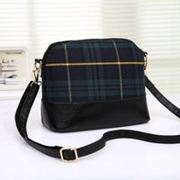 bag deals - Super Deal Fashion England stitching plaid women bag leather handbags famous brands Shoulder Bag laides Messenger Women Messenger Bag