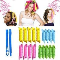 Wholesale 2016 Plastic Hair Rollers Rollers Hooks DIY Magic Hair Curler Leverage Pear Head Styling Plastic Hair Curlers