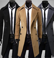 Wholesale Men s new fashion mall quality wool woolen coat business casual double breasted wool coat jacket