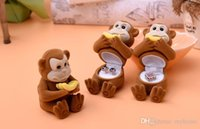 Wholesale Monkey Ring Packaging Boxes Ring Necklace Cartoon Jewelry Boxes Gift Present March Style