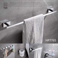 Wholesale Han Pai Brass Luxury Bathroom Accessories Wall Mounted Towel Rack Ring Holder Wall Hanger Acessorios de banheiro Set HP7765