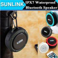 Wholesale C6 Waterproof Wireless Bluetooth Speaker Outdoor Sports Shower Suction Cup Speaker Handsfree MIC Voice Box Portable Dustproof Shockproof DHL