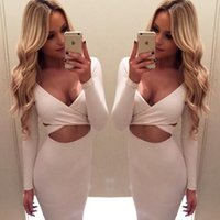 beauty personality - Dress Sexy Dresses Cheap On Sale New Autumn Hot Seling Personality Bodycon N neck Many Colors Options Luxury Fashion Night Club Beauty