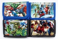 avengers gift card - 36Pcs The Avengers Captain America Coin Purse Cute Kids Cartoon Wallet Bag Pouch Children Purse Small Wallet Party Birthday Gift