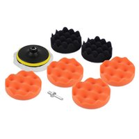 Wholesale New Set inch Buffing Pad Auto Car Polishing Sponge Wheel Kit With M10 Drill Adapter Buffer hot selling