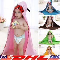 Wholesale Cotton Baby Beach Gown Child Bathrobe Robes Beach Towels Baby Cloak Cape Baby Bath Towel Child Bathrobes New Top XL V07