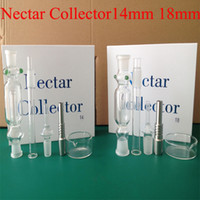 Wholesale Nectar Collector Kit Glass Nectar Collectar Tips with Titanium and Quartz Nail Dabber Dish mm mm Glass Pipe Nectar Collector In Stock
