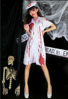 Wholesale 2016 new arrival halloween costumes for women bloody awful nurse skirts descendants costumes cosplay dresses holloween descendants