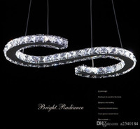 Wholesale New crystal Orbital S shapes stainless steel crystal LED pendant light for living room bedroom light
