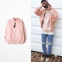 baseball bat sleeve - 2016 spring Pink loose short version of the baseball uniform letters embroidery jacket