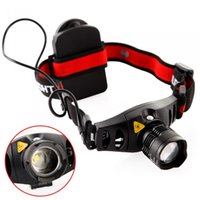 Wholesale ZOOM Lumens Cycling CREE Q5 LED Headlamp Headlight Zoomable Head Light Lamp for Outdoor Camping Hunting