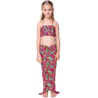 Wholesale 2016hottest Children s girl Bikini Cosplay Mermaid SWIMSUIT SET nylon high quality high brand