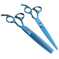 Wholesale Professional Stainless Steel Pet Hair Cosmetology Scissors Set Trimming Cutting Upturned Shear
