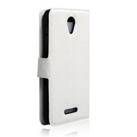 alcatel news - 2016 News Arrival Lychee grain wallet PU leather case with card holder stand For Alcatel POP4 Cell Phone Case
