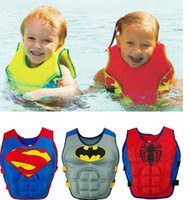 baby swimming jacket - Baby Swim Vest Child Swimming Learning Jacket Ring Infant Life Jacket Kids Cartoon Floatable Swimsuit Boy Girl Cool Rafting Vest hight quali