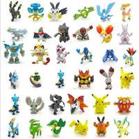 Wholesale 144 Poke Monster Toys Poke Monster Mini Figures Pikachu Action Figures Toy Best Gifts For Children cm