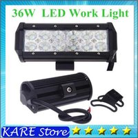 Wholesale 6pcs ultra Bright quot W Cree LED Work Light Bar Lamp Tractor Boat Off Road WD x4 v v Truck SUV ATV Spot Flood Working car floodLight