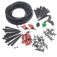 Wholesale Garden Irrigation Set m mm Hose DIY Gardening Sprinkler Head Hose Bracket Fast Interface Hole Puncher Plug Tee