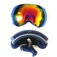 Wholesale Large spherical double card anti fog ski glasses myopia professional ski goggles glasses export men and women
