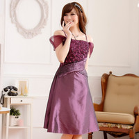 apparel special sizes - Size to w Summer Fashion Special Occasion Apparel Big Size Women Clothing Lace Flower Satin Prom Off the Shoulder Dresses
