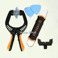 Wholesale New Opening Repair Tool Set Suction Cup Pliers Flexible Dual Head Spudger for iPhone S Smartphone Tablets Disassemble Tool