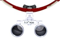 Wholesale New Arrival and Hot Sale New Dentist RED Dental Surgical Medical Binocular Loupes X mm Optical Glass Loupe