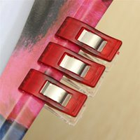Wholesale High Quality Plastic Wonder Clips Holder for DIY Patchwork Fabric Quilting Craft Sewing Knitting Red