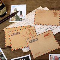 Wholesale set Mini Retro Vintage Kraft Paper Envelopes Korean Stationery Gift