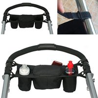 Wholesale Baby Stroller Cup Holder Safe Console Tray Pram Hanging Black Bag Bottle Holder