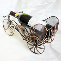 bicycle wine rack - New Wine Bottle Bicycle Holder Hanging Upside Down Cup Goblets Display Rack Vintage Iron Wine Stand Hot Sale