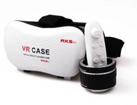 Wholesale VR BOX IV Virtual Reality D Glasses VR CASE VRBOX D Glasses Match game handle Professional Vrbox Upgraded Version Bluetooth Remote