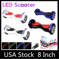 Wholesale USA Stock quot LED Scooter Smart Hoverboard Bluetooth Music Player Two Wheels Electric Scooters Unicycle Remote Multicolor Fast Shipping