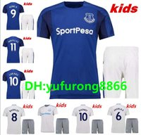 2af757ea4dc Top quality 17 18 Everton home blue KIDS soccer jersey KIT 2017 ROONEY 10  MIRALLAS BAINES NAISMITH OVIEDO KONE football uniform away shirts