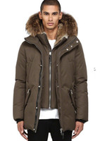 bamboo and organic cotton fleece - where to buy china cheap men long parka XS XXL EDWARD F4 WINTER DOWN COAT WITH FUR HOOD AND LEATHER DETAILS