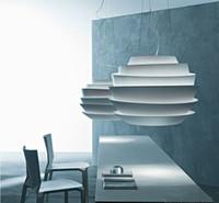 aluminium light fixtures - Foscarini Le Soleil Wave cm White Red Green Suspension Simple Pendant Lamp Aluminium Chandelier Droplight Light E27 Bulb Light Fixtures