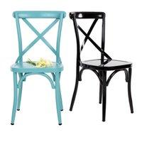 Wholesale IKAYAA Industrial Style Metal Kitchen Dining Breakfast Chair Stool Ergonomic Design H16844