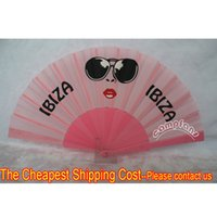 advertising choice - Custom cm Advertising Fan Plastic Fabric Folding Hand Fans Many Colors Fan Ribs For Choice Please Consult one design