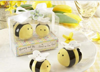 bee wedding favors - Herb Spice Tools Lovely Ceramic Bee Salt Pepper Shakers Wedding Favors Perfect Wedding Gift