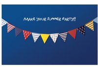 Wholesale Handmade Colorful Navy Party Bunting Triangle Flags Paper Garland Wedding Banner Birthday Party Supplies set