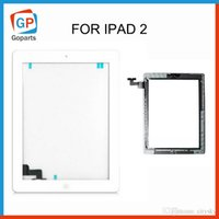 Wholesale Touch Screen Glass Digitizer Panel With Ic Connector For iPad with Buttons Adhesive Black White