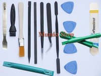 Wholesale 16 in Repair Tools ESD Metal Spudger Scraper Anti static Metal tweezers for iphone ipod ipad smartphone Tablet PC Disassembly