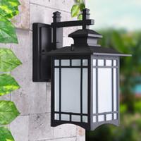 antique exterior lights - Outdoor wall lights exterior lantern lamp antique vintage garden wall lights durable aluminum outdoor lighting fixture wall lighting
