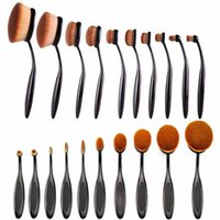 bb packages - Beauty Toothbrush Shaped Foundation Power Makeup brush set Oval Cream BB Puff Soft Brushes sets tool wiht OPP package