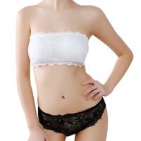Wholesale Lingerie Lady Tubes - Wholesale-Hot Sale 2016 New Sexy Women Ladies Sport Strapless Lace Bralette Crop Top Cropped Comfort Lingerie Bra Bandeau Boob Tubes Z1